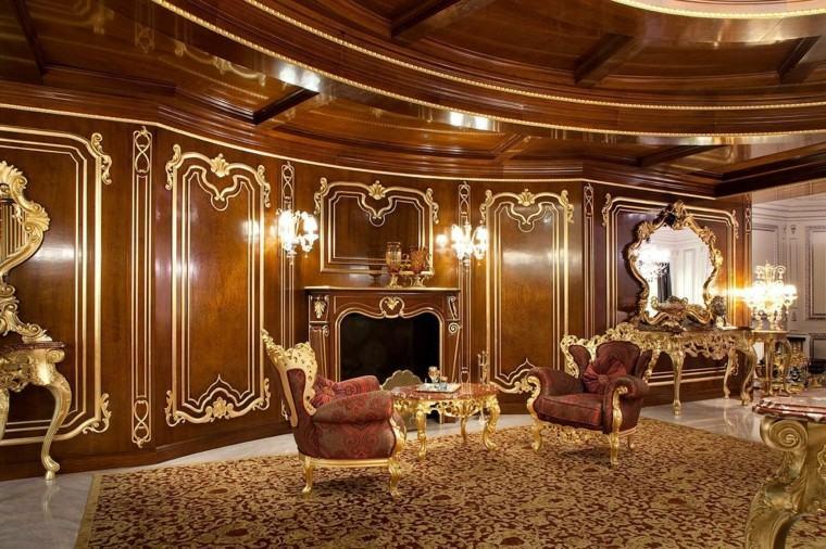 paredes madera salon estilo victoriano ideas
