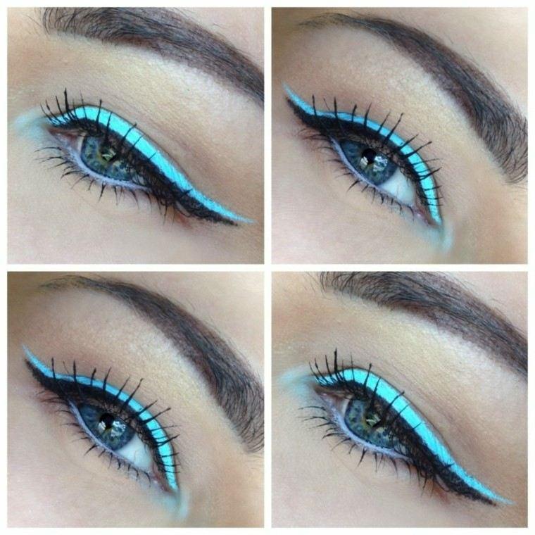 pasos azul verano mirada maquillaje