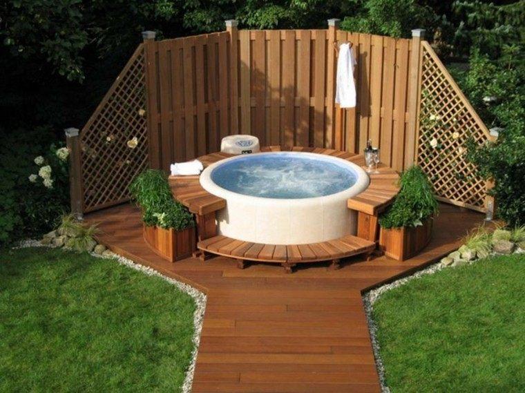 patio blanco jacuzzi relax cubierta