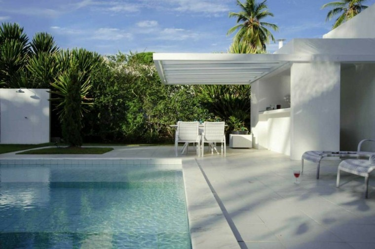 patio estilo moderno color blanco
