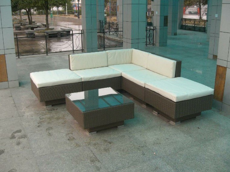 patio estilo moderno muebles rattan