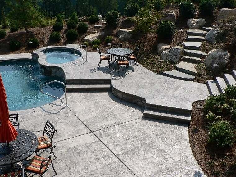 pendiente terraza jardin diseño forja