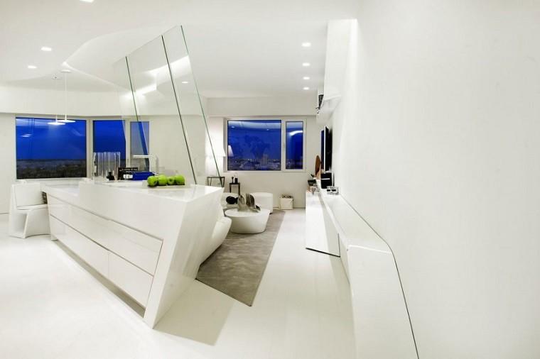 penthouse atico diseño moderno bar