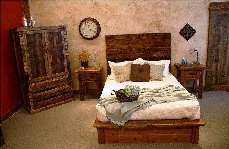 pequeña rustica habitacion vasijas reloj