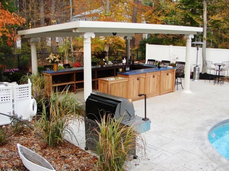 Cocinas modernas para el aire libre 50 ideas exquisitas for Cocina exterior jardin