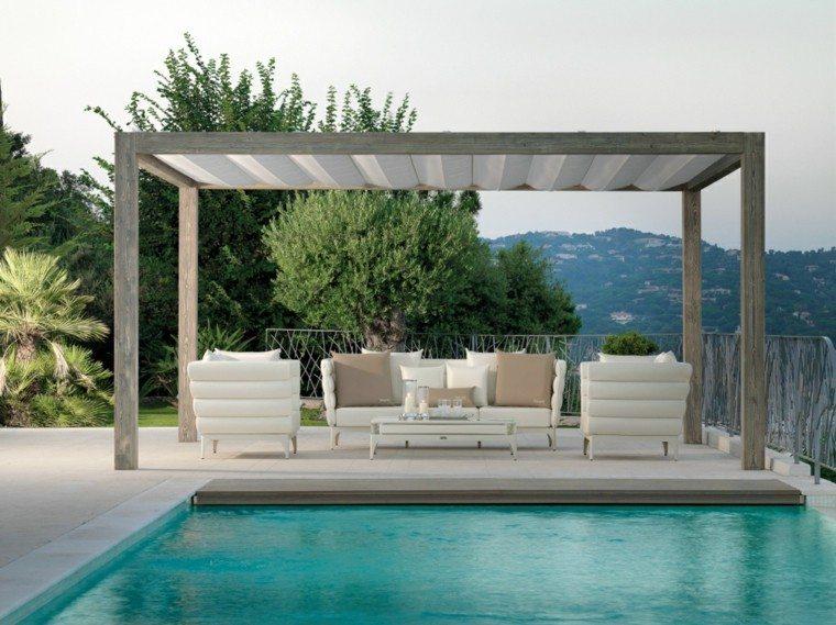 pergola jardin sofa sillones modernos ideas