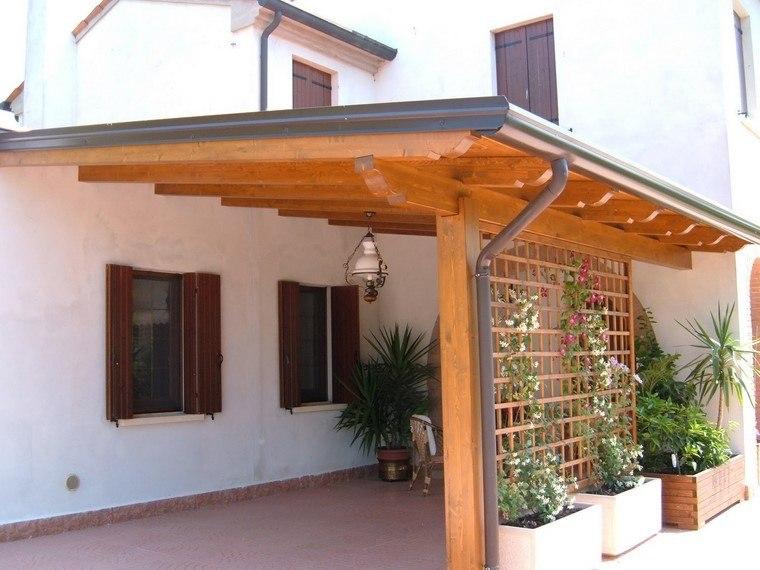 P rgolas jardines terrazas con estilo muy modernas - Casas de madera pequenas para jardin ...