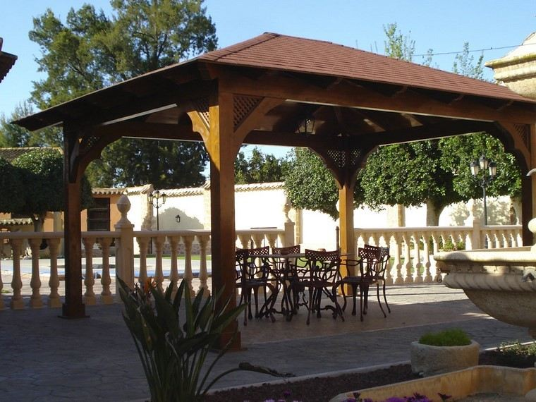 pergola madera laminada grande jardin ideas
