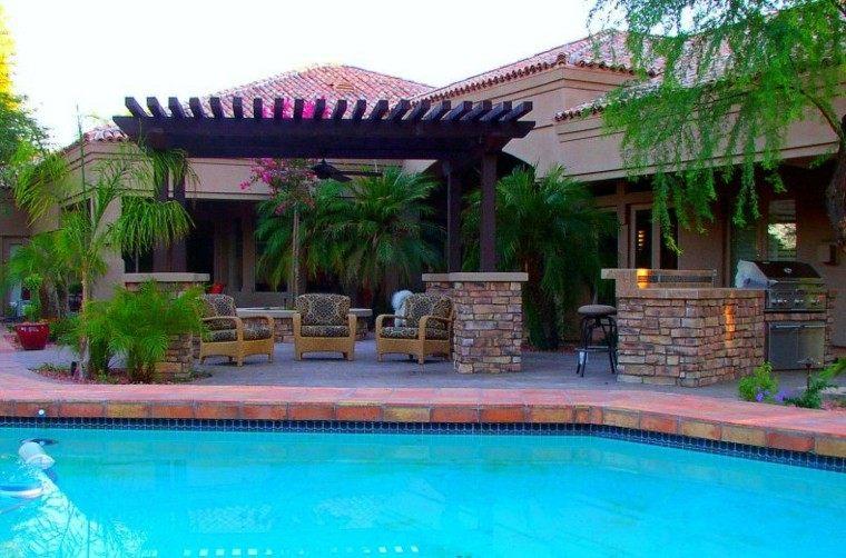 pergola madera mirador piscina jardin
