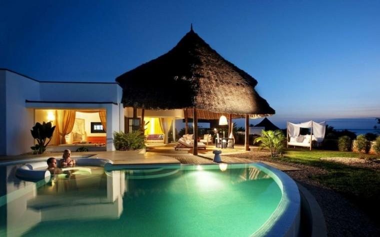 pergola tropical techo paja