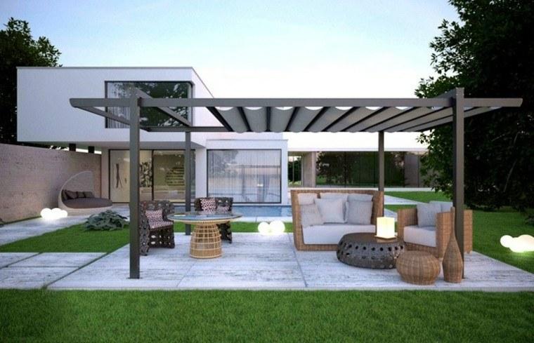 pergola design outdoor furniture lawn ratan