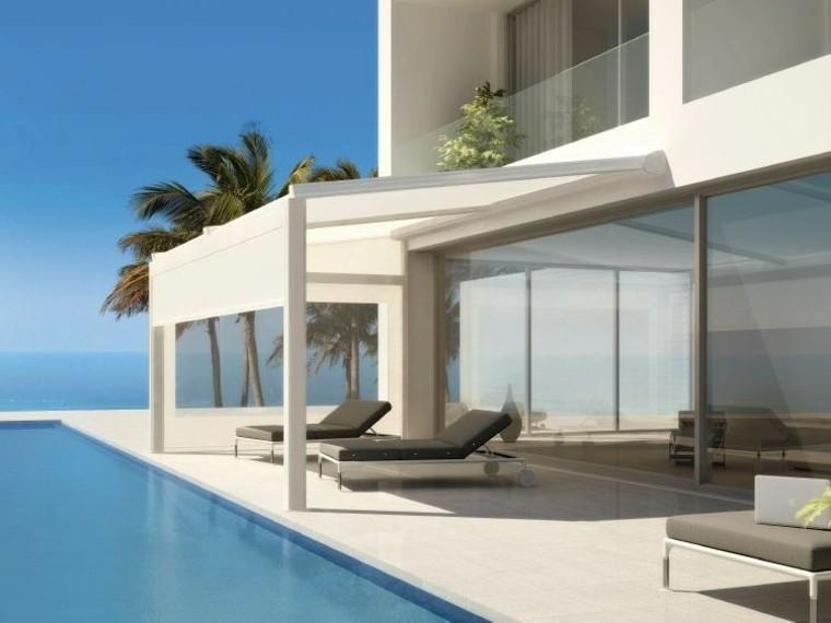 pergola design outdoor furniture sun loungers