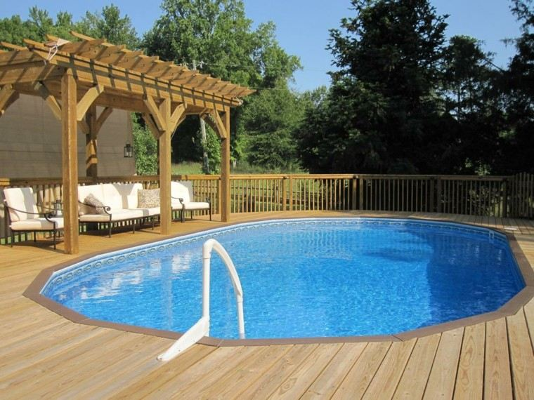 Mirador con piscina setenta y cinco estupendas ideas for Plataforma para piscina