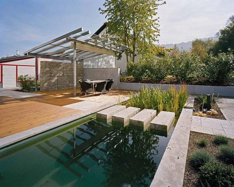 pérgolas jardines terrazas acero grande ideas