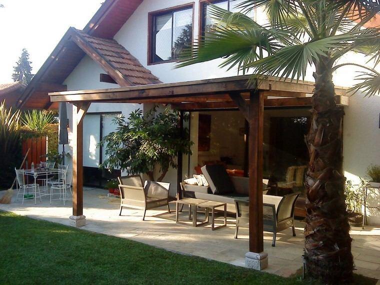 P rgolas jardines terrazas con estilo muy modernas for Casas con cobertizos