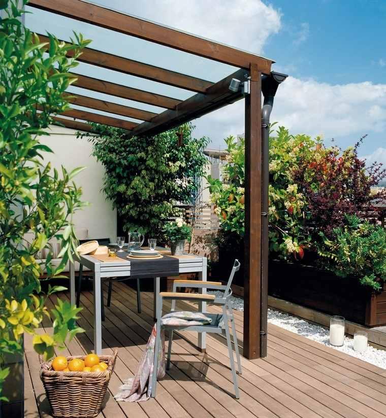 P rgolas jardines terrazas con estilo muy modernas - Pergolas de madera fotos ...