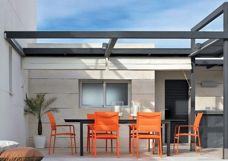 P rgolas jardines terrazas con estilo muy modernas for Cubiertas para techos livianas