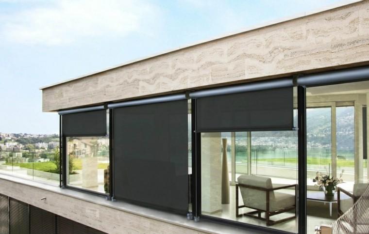 persianas negras casa ventanales grenades ideas