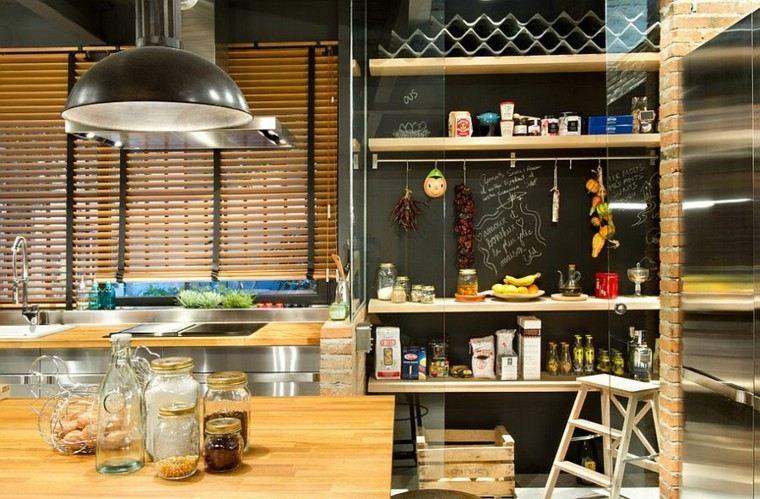 persianas preciosas estilo industrial cocina ideas