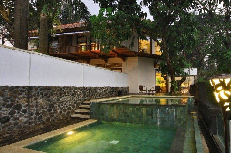 piscina casa campo pequena dos niveles ideas