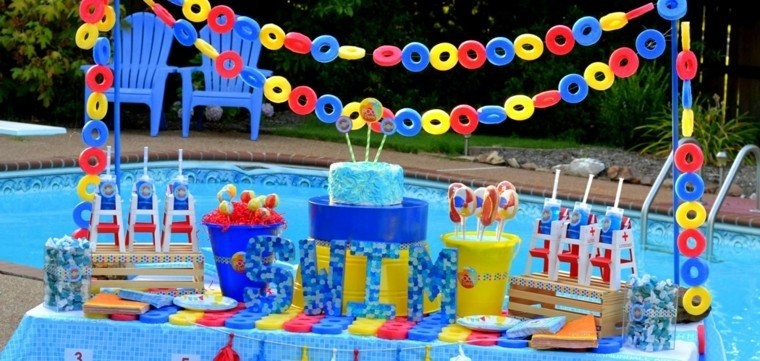 piscina fiesta creativo colorido piscina