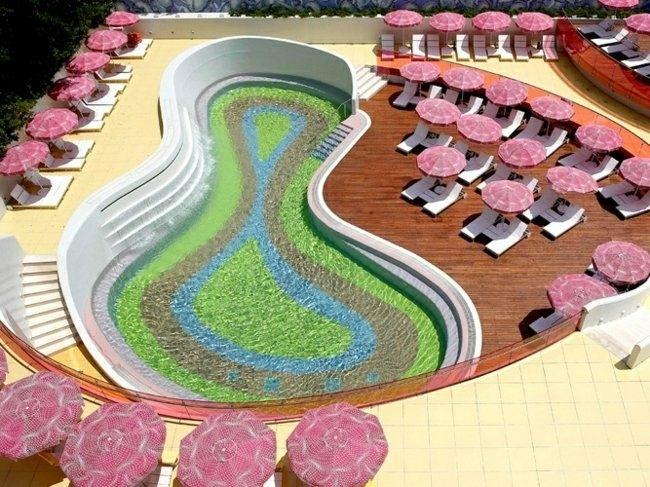 piscina forma de compresa