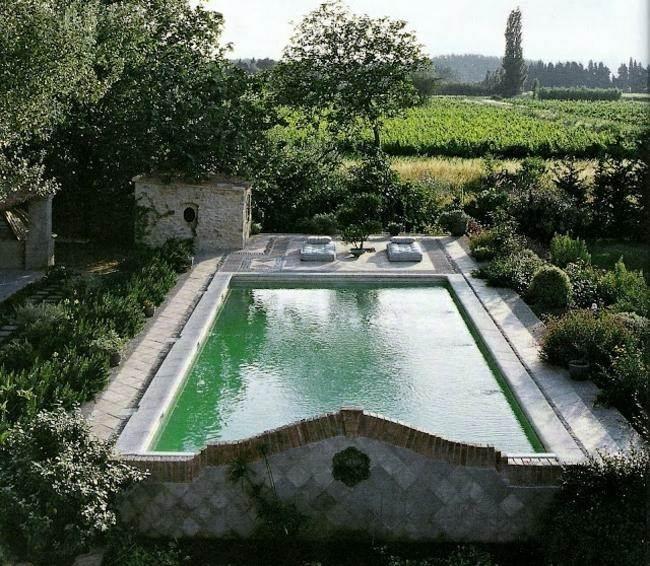 piscina grande estilo clasico plantas