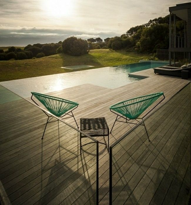 piscina lamina plataforma madera teca