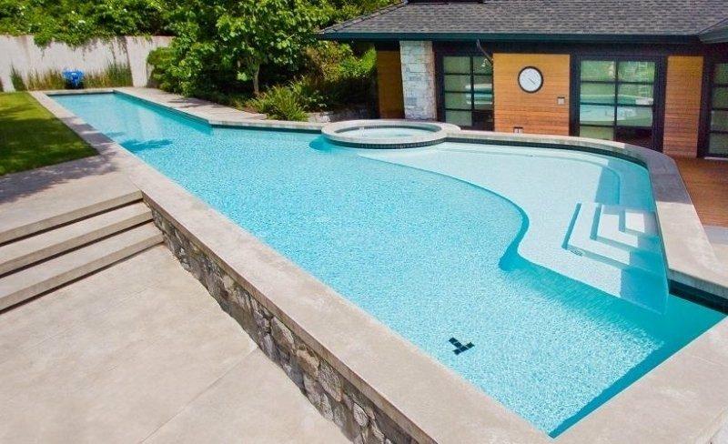 piscina nivelada jacuzzi redondo