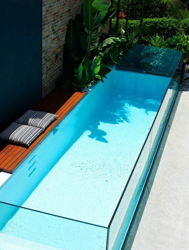 Construccion de piscinas en el jard n 103 ideas - Como se hace una piscina ...