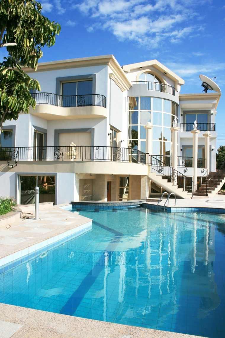 piscinas casas grandes formas originales preciosas modernas