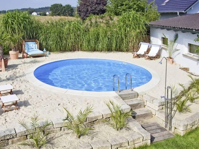 piscinas diseño arena plantas redonda