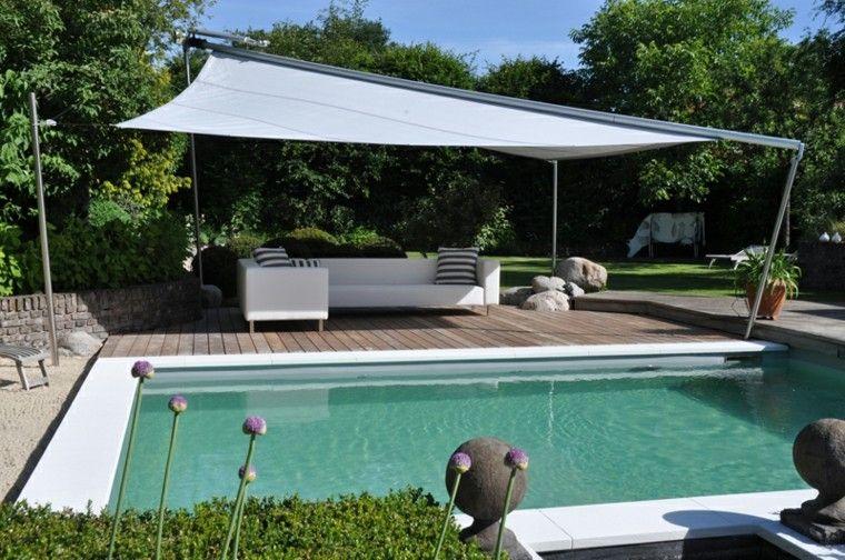 piscinas diseño cubierta esferas jardin