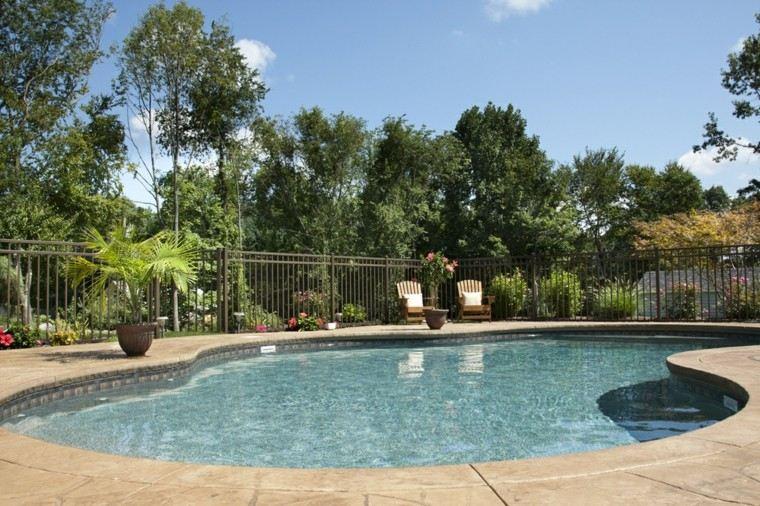 piscinas grandes formas bonitas terraza ideas