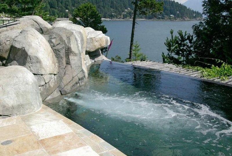 piscinas infinitas rocas jacuzzi vistas