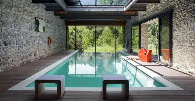 Piscinas de dise o moderno 75 ideas fabulosas - Houses in england with swimming pools ...