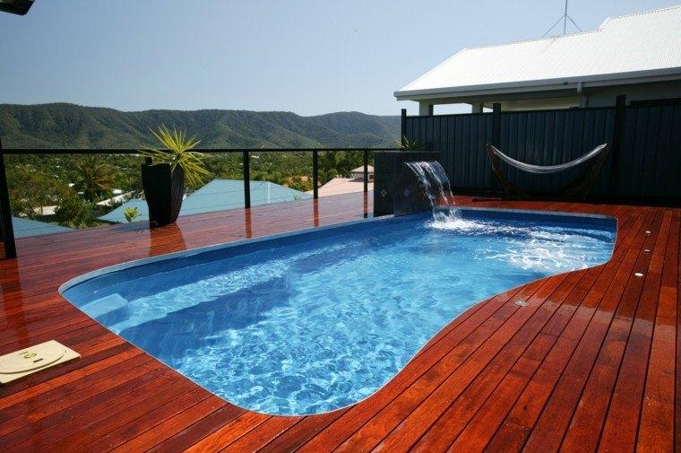 piscinas jardines diseño madera terrazas balcon