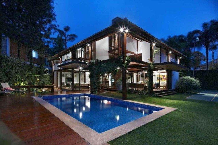 piscinas jardines luces exterior trepadoras