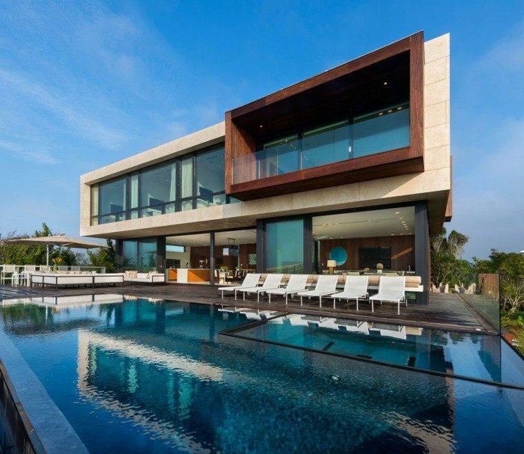 Modelos de dise os paisajistas con piscina 75 ideas for Mar villa modelo