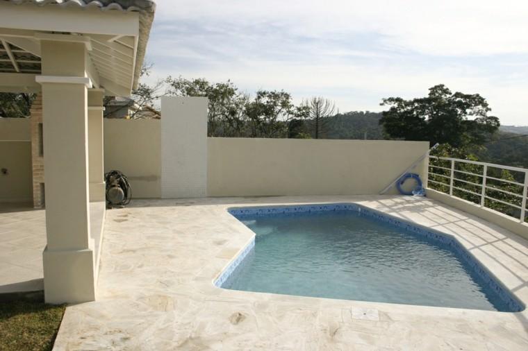piscinas pequenas terrazas estilo minimalista ideas