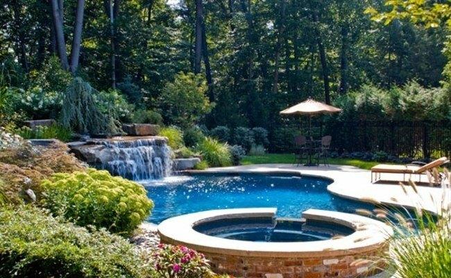 piscinas redondas modernas cataratas cascadas