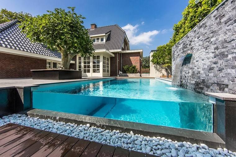 piscinas transparentes bordes fibra vidrio