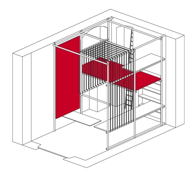 plano diseño interior oficina taller