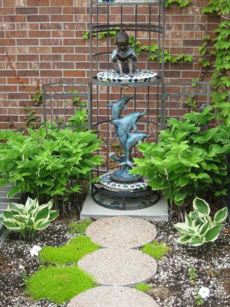 plantas mediterraneas jardin figuras decorativas ideas