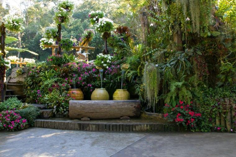 plantas ornamentales jardín natural macetas grandes ideas