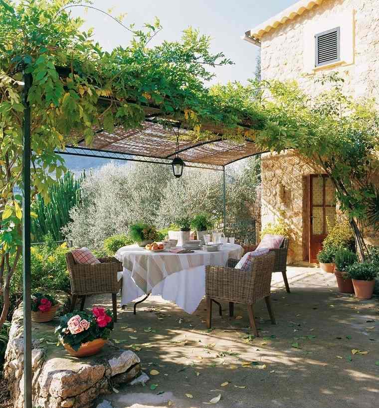 P rgolas jardines terrazas con estilo muy modernas - Plantas para pergolas ...