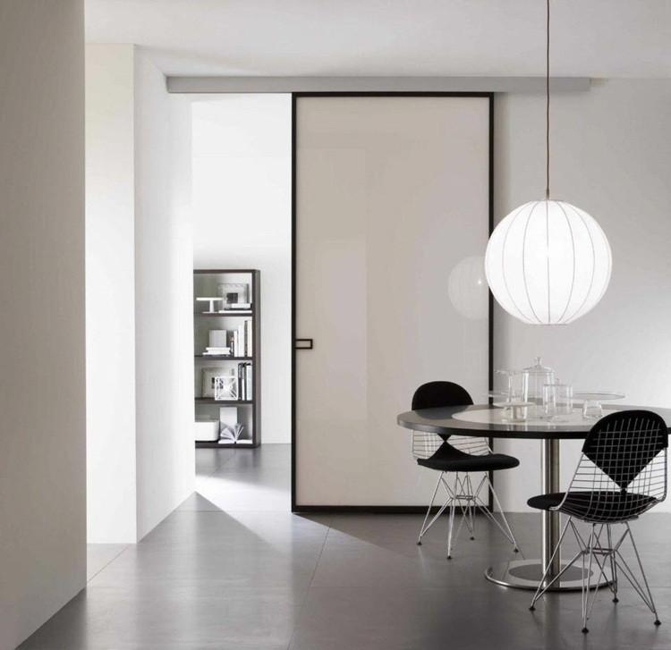 Puerta corredera 50 modelos para un espacio funcional for Puerta lavadero