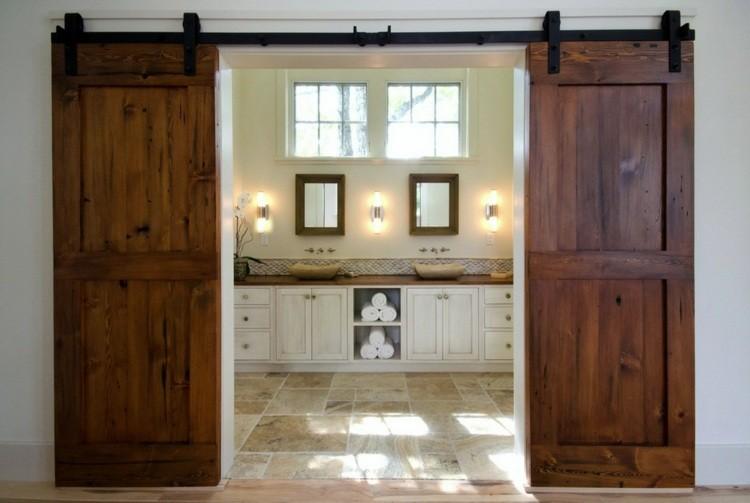 puerta corredera granero estilo rustico