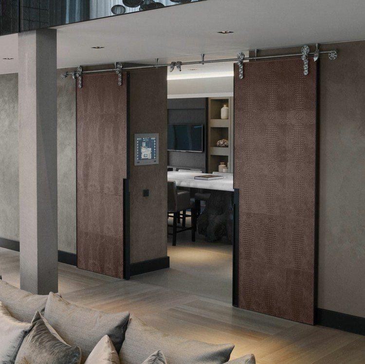 puerta corredera 50 modelos para un espacio funcional On puertas correderas con guia exterior