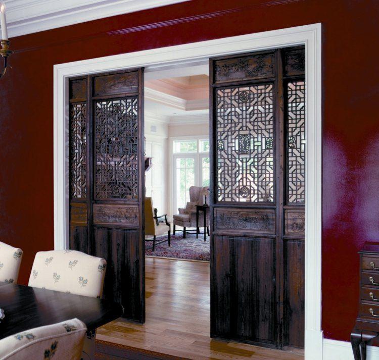 puerta corredera rojo muebles energia